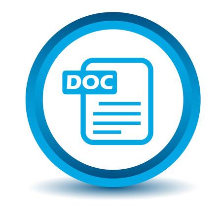 doc: Blue doc icon Illustration