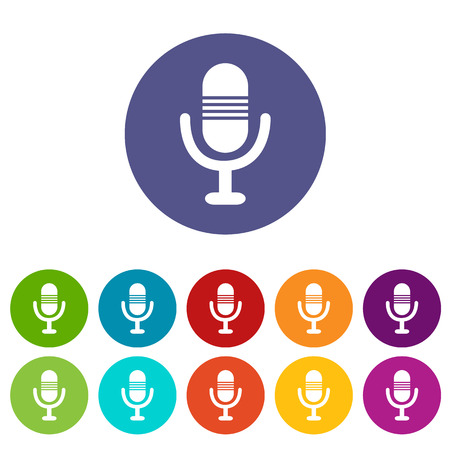 Microphone flat icon Illustration
