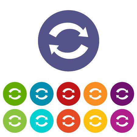 synchronization: Synchronization flat icon