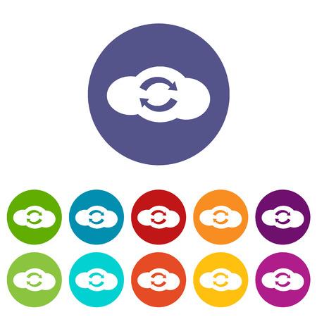 synchronization: Synchronization cloud flat icon