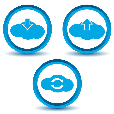 Cloud icons set Vector