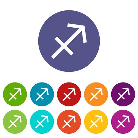 sagitario: Sagitario icono plana