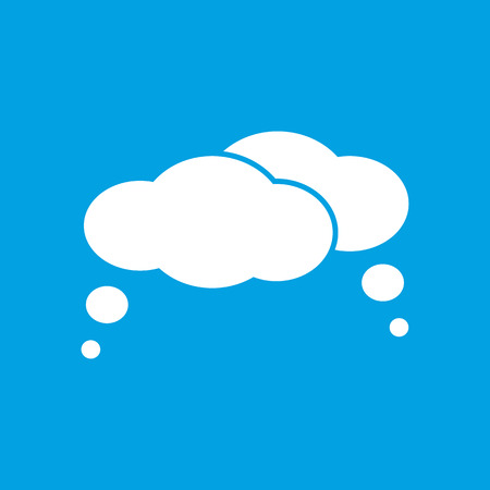 Clouds white icon