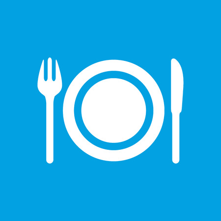 plate: Plate white icon Illustration
