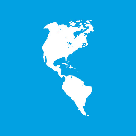 kontinentální: Continental Americas bílá ikona