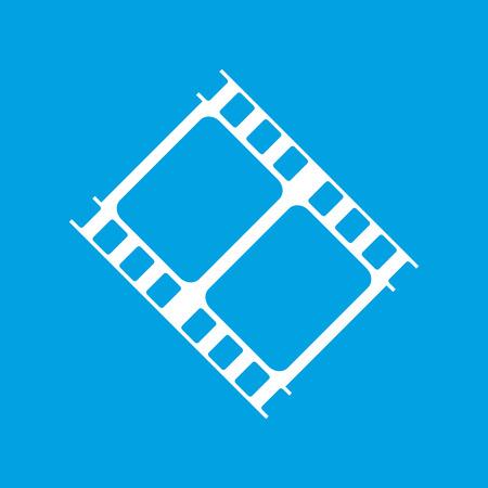 cine: Film white icon