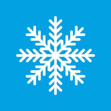 white color: Snowflake white icon Illustration