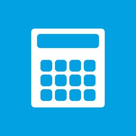 Calculator white icon