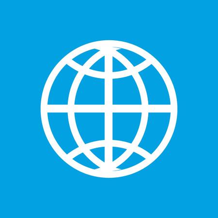 unification: World white icon Illustration
