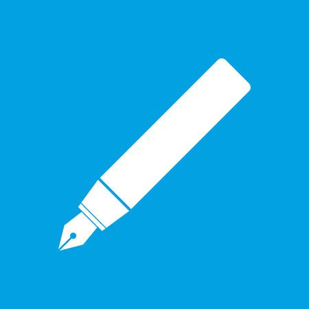 compose: Pen white icon Illustration