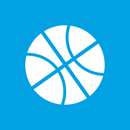 menu icon: Basketball white icon