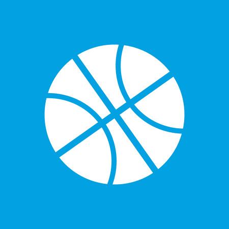 icono deportes: Icono blanco Baloncesto Vectores