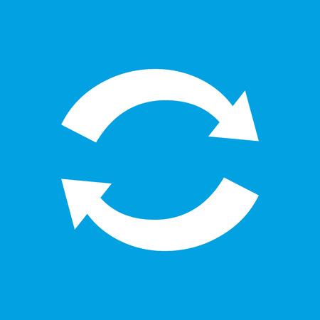 sincronizacion: Icono blanco Sincronizaci�n Vectores