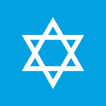 judaism: Judaism white icon
