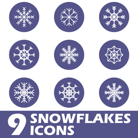 Snow flat icons Vector