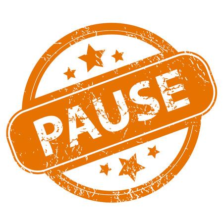 Pause grunge icon