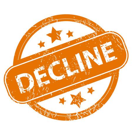 Decline grunge icon Illustration