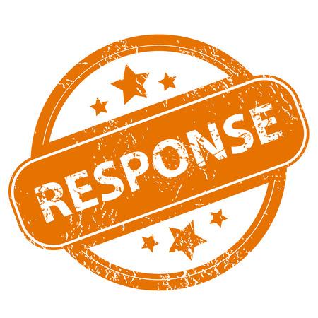 response: Response grunge icon