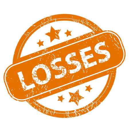 losses: Losses grunge icon