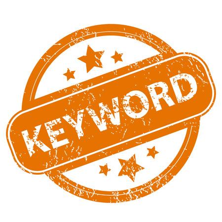 keyword: Keyword grunge icon Illustration
