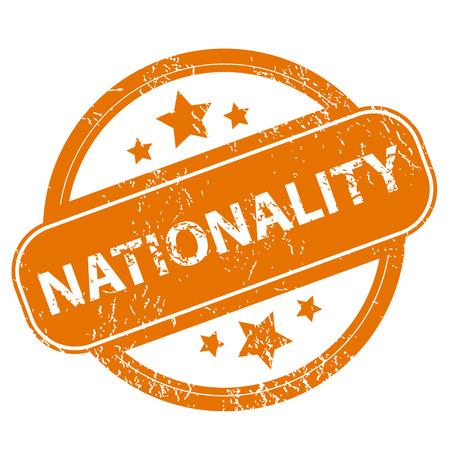 nationality: Nationality grunge icon Illustration
