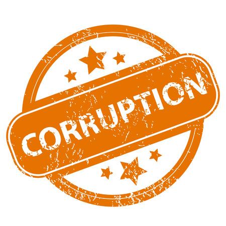 corruption: Corruption grunge icon Illustration