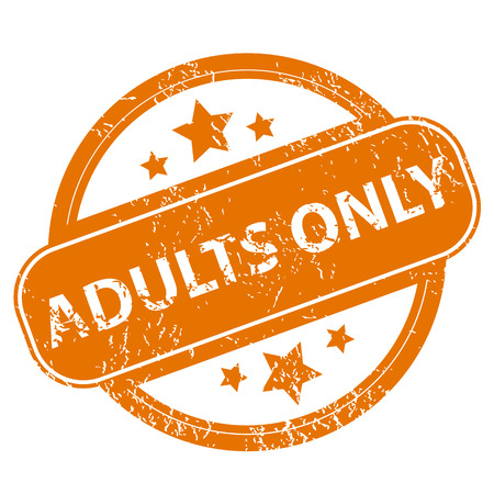 adults only: Adults only grunge icon