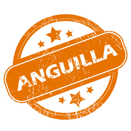 anguilla: Anguilla grunge icon Illustration