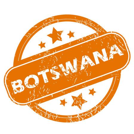 botswana: Botswana grunge icon Illustration