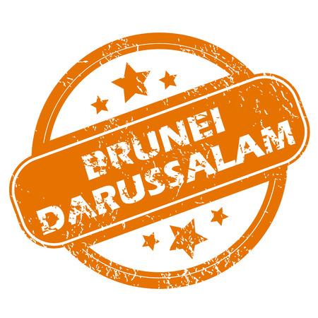 brunei: Brunei Darussalam grunge icon