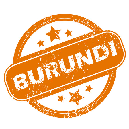 burundi: Burundi grunge icon Illustration