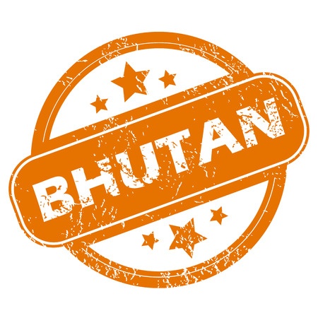 bhutan: Bhutan grunge icon Illustration