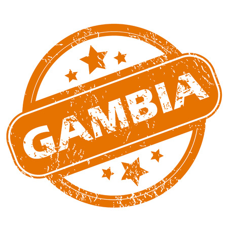 gambia: Gambia grunge icon