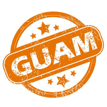 guam: Guam grunge icon Illustration