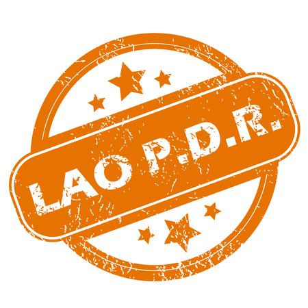 lao: Lao grunge icon Illustration