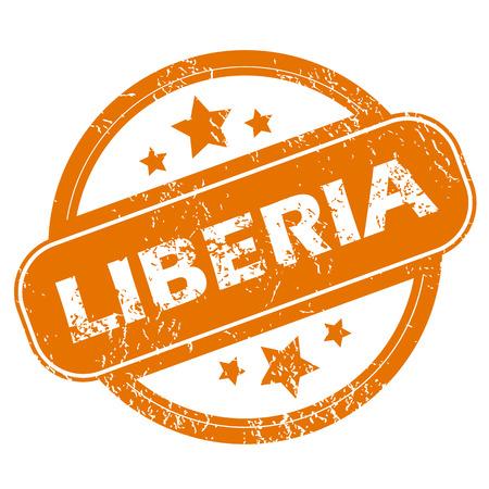liberia: Liberia grunge icon