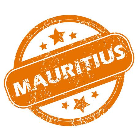 mauritius: Mauritius grunge icon