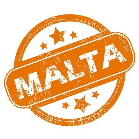 malta: Malta grunge icoon Stock Illustratie