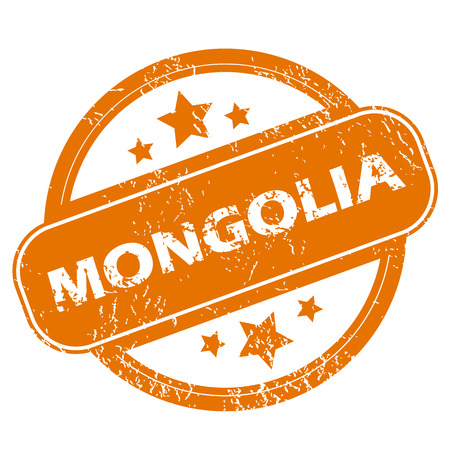 mongolia: Mongolia grunge icon Illustration