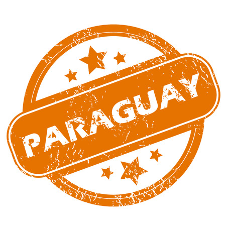 paraguay: Paraguay grunge icon Illustration