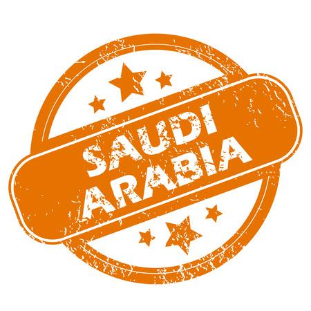 arabia: Saudi Arabia grunge icon Illustration
