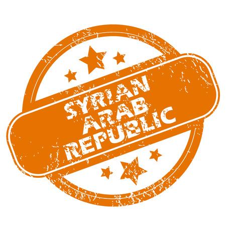 Syryjski: Syryjska Republika Arabska ikona grunge