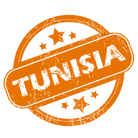 tunisia: Tunisia grunge icon Illustration