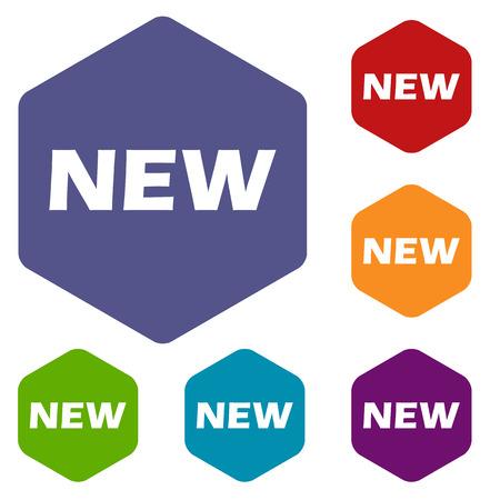 novelty: New rhombus icons Illustration