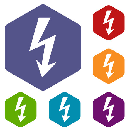 immediately: Lightning rhombus icons Illustration