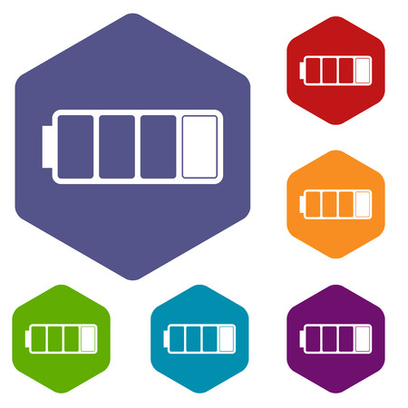 Battery rhombus icons Illustration