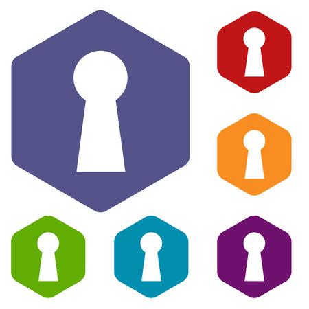 pry: Keyhole rhombus icons