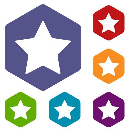 top menu: Star rhombus icons Illustration