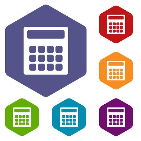 numerate: Calculator rhombus icons