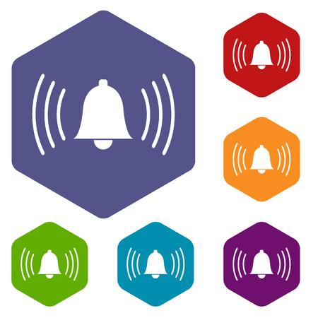 alarmclock: Alarmclock rhombus icons